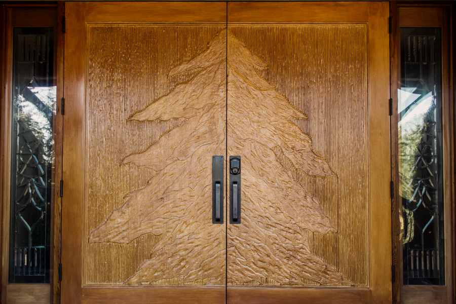 Large Wood Hand Carved Doors
