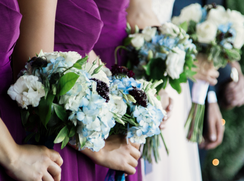Bridesmaids Bouquets Purple