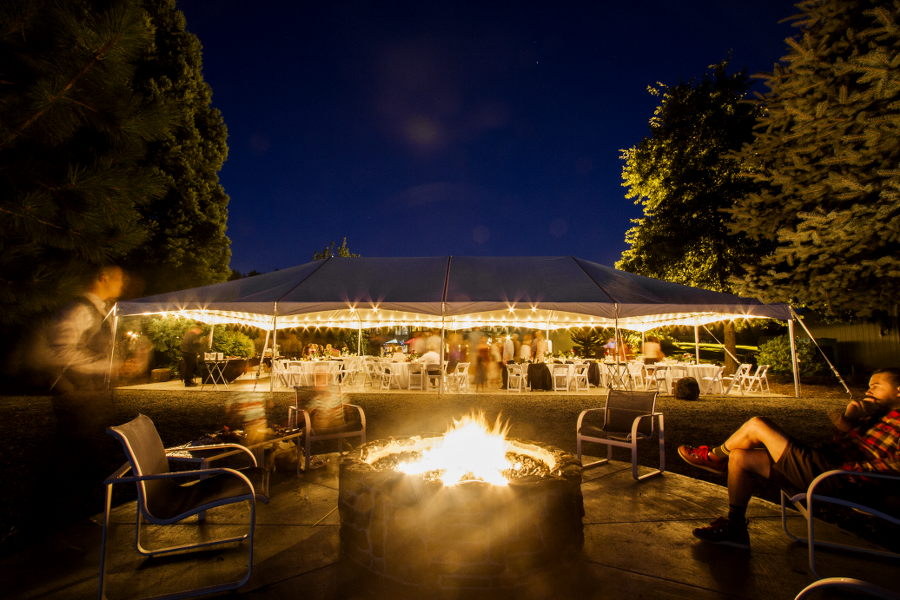 Evening Event at Wonser Woods Estate with Firepit