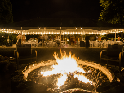Evening Event With Fire Pit