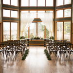 Great Room Wedding Setup View of Portland
