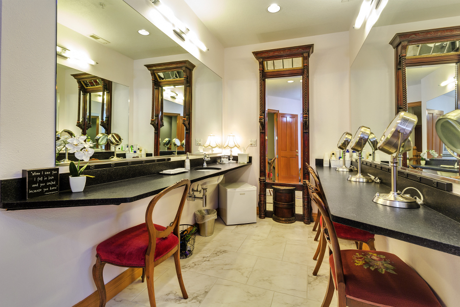 Makeup Station in Bridal Suite